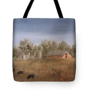 Farm With Cows  Tote Bag