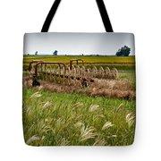 Farm Work Wiind And Rain Tote Bag