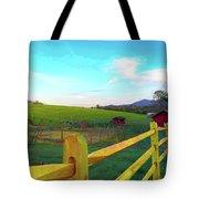 Farm Yard Fence Tote Bag