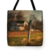 Farmhouse And Fence Post Tote Bag