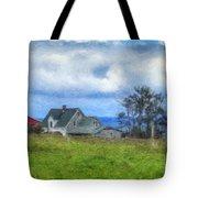 Farmhouse By The Sea Tote Bag