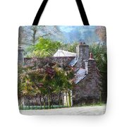 Farmhouse On A Cold Winter Morning. Tote Bag