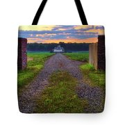 Farmhouse Sunrise - Arkansas - Landscape Tote Bag
