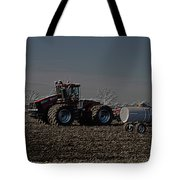 Farming April In The Field On The Case 500 Pa Tote Bag