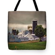 Farming Before The Storm Finger Lakes New York 04 Tote Bag