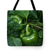 Farming Green Peppers Tote Bag
