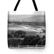 Farming Panorama Finger Lakes New York Bw Tote Bag