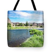 Farmland Along John Day River Tote Bag