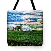 Farmland In  Hdr Tote Bag