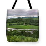 Farmland View Over The Connecticut River  Tote Bag