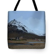 Farms At The Base Of Mt Stapafell In Iceland Tote Bag