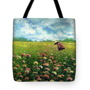 Farmstand Flower Lady Tote Bag