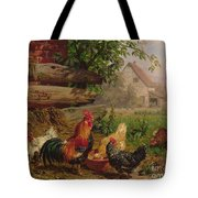 Farmyard Chickens Tote Bag