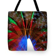 Farris Wheel Light Abstract Tote Bag