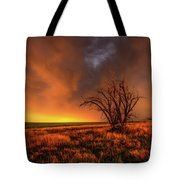 Fascinations - Warm Light And Rumbles Of Thunder In The Oklahoma Panhandle Tote Bag