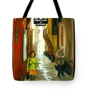 Fashion Alley In Bologna Tote Bag by Milagros Palmieri