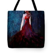 Fashion Illustration Red Tote Bag