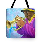 Fat Albert Plays The Trumpet Tote Bag
