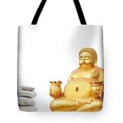 Fat Happy Buddha In Meditation Tote Bag