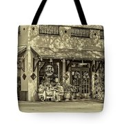 Fat Hen Grocery Sepia Tote Bag