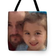 Father Daughter Tote Bag