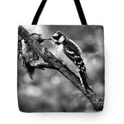 Father Feeding Son Tote Bag
