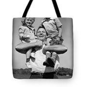 Father Holding Children, C.1930s Tote Bag