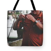 Father Son Time Tote Bag