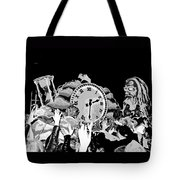 Father Time In Black And White Tote Bag