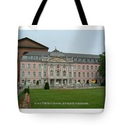 Fathers House Many Mansions Tote Bag