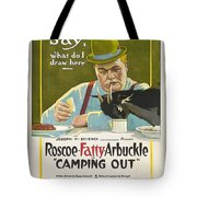 Fatty Arbuckle In Camping Out 1919 Tote Bag