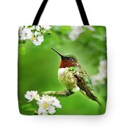 Fauna And Flora - Hummingbird With Flowers Tote Bag