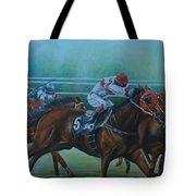 Favorite, Horse Race Art Tote Bag