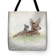 Fawn And Bunny Tote Bag