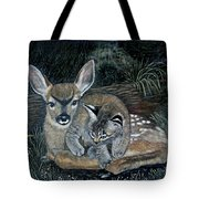 Fawn And Cat Tote Bag