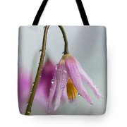 Fawn Lilies In The Rain Tote Bag
