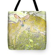 Fawn Twins Digital Painting Tote Bag
