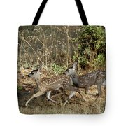 Fawns Running Tote Bag