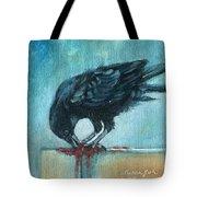 Feasting Raven Tote Bag