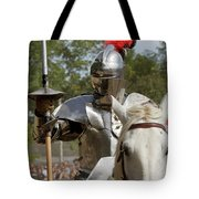Knight With Lance Tote Bag
