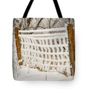 Feather Dusted Tote Bag