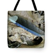 Feather On The Forest Floor Tote Bag