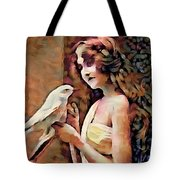 Feathered Confidant Tote Bag