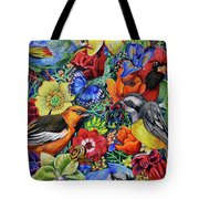 Feathered Foliage Tote Bag