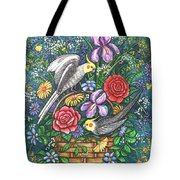 Feathered Frolic Tote Bag