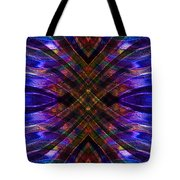 Feathered Stained Glass Tote Bag