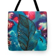 Feathers And Birds  Tote Bag