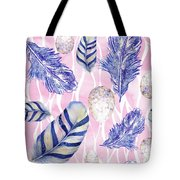 Feathers And Eggs Pattern Tote Bag