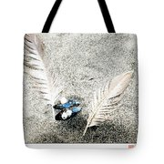 Feathers And Mussel Tote Bag