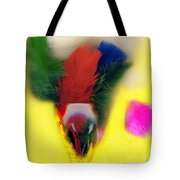 Feathers In Wine Glass Tote Bag